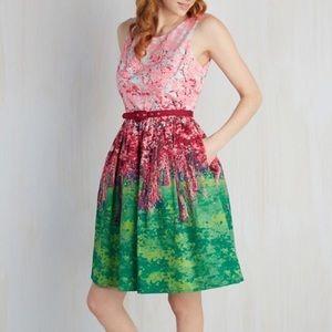ModCloth cherry blossom tree dress